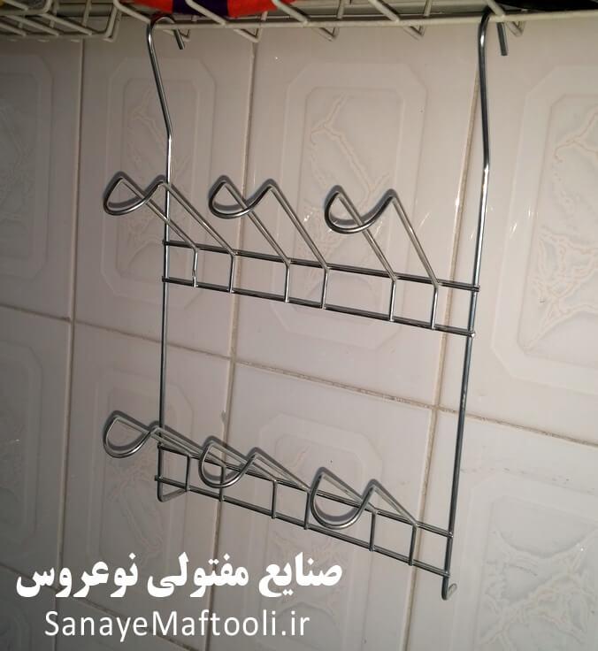 آویز لیوان جا لیوانی 6 تایی آشپزخانه نوعروس