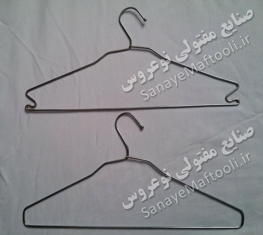 آویز کت آویز لباس  قلاب دار فلزی نوعروس