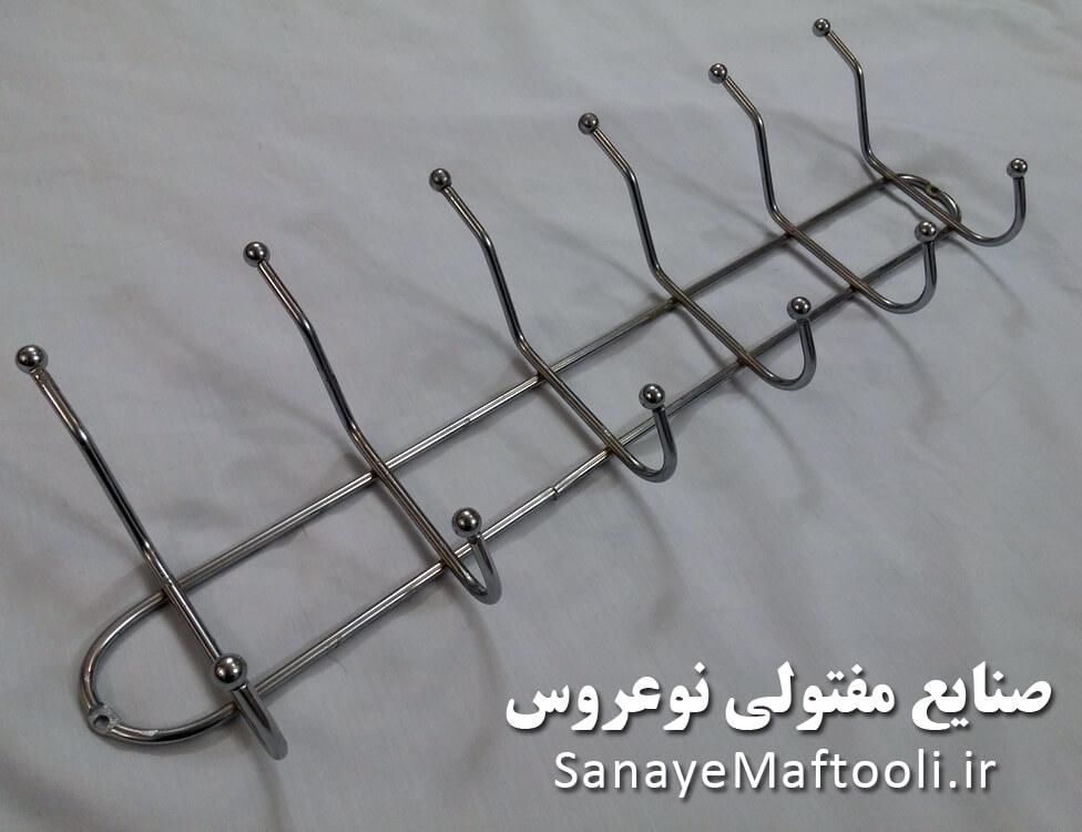 جالباسی دیواری فلزی آهنی شاخه ای نوعروس