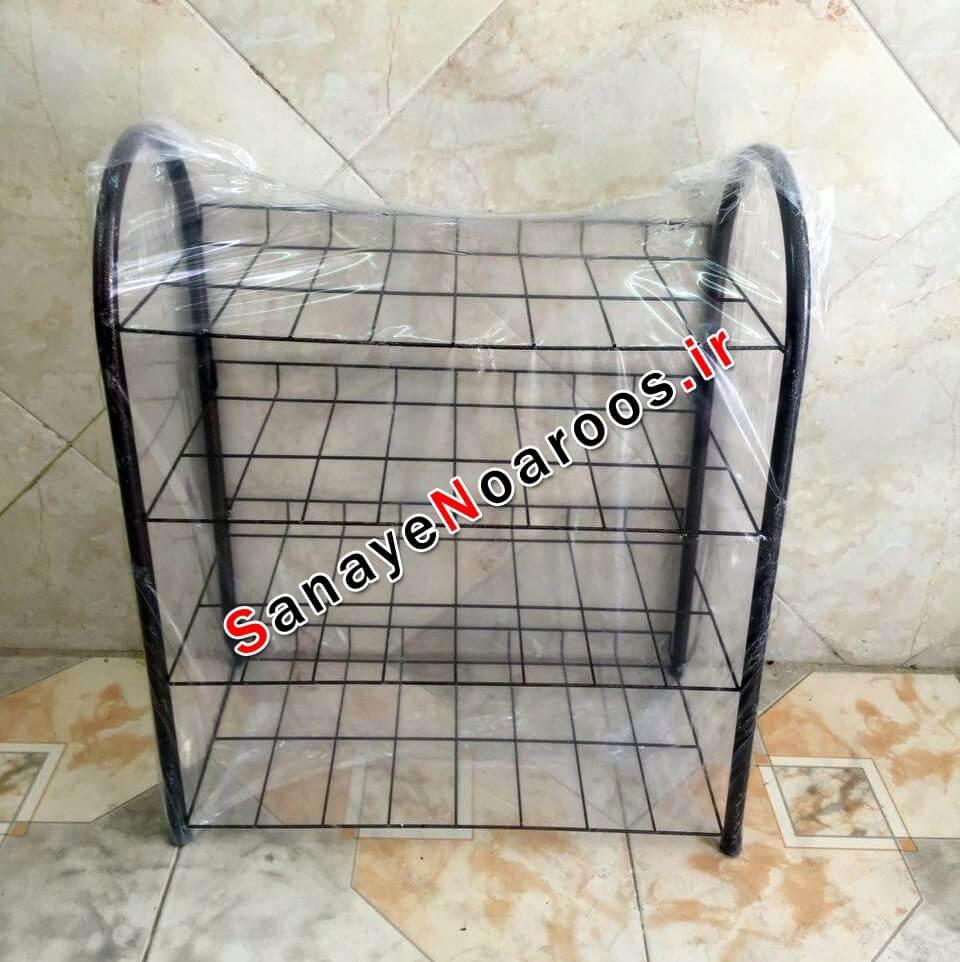 جاکفشی قفسه ای 4 طبقه فلزی